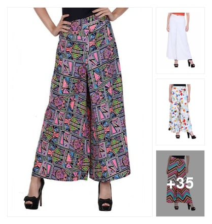 Printed creap palazzo. Online shopping look by chinna