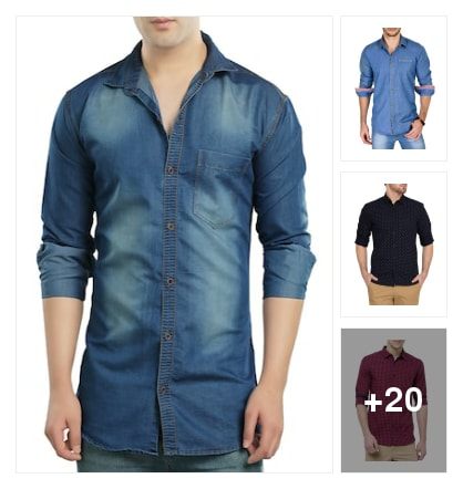 Shirts for men. Online shopping look by keerthi