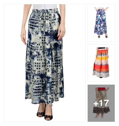 Casual wear skirts. Online shopping look by Rajni