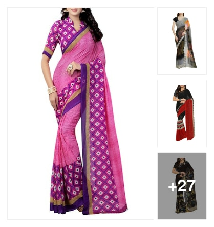 simple sarees. Online shopping look by dosy