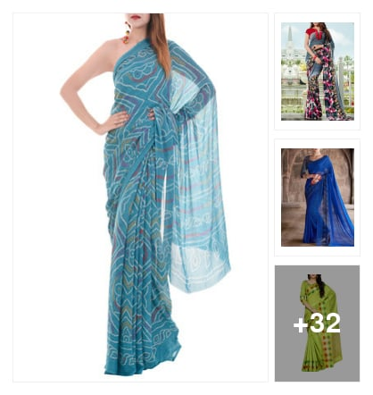 fancy sarees. Online shopping look by dosy