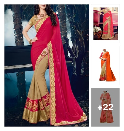 Good looking party wear sarees . Online shopping look by naidu