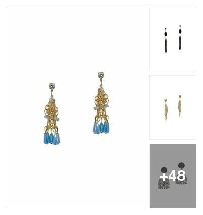 pretty earrings. Online shopping look by avanthaka
