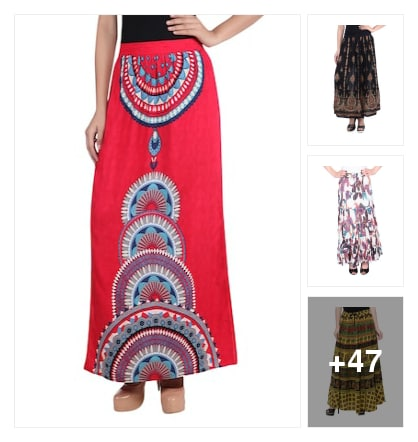 Skirts. Online shopping look by Teju