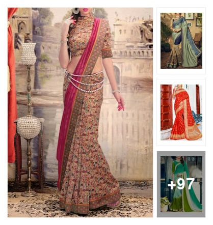 Shangirala Designer Sarees. Online shopping look by 💚❤Padmini❤💚