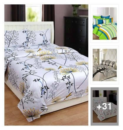 bedsheets. Online shopping look by sambha