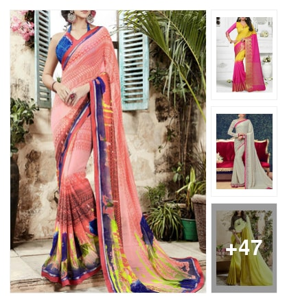 Sarees. Online shopping look by 💚❤Padmini❤💚