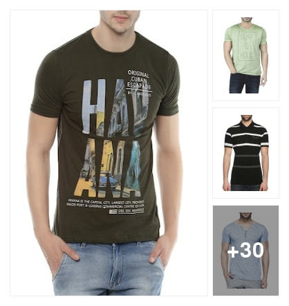 Fine T-shirts. Online shopping look by Badri