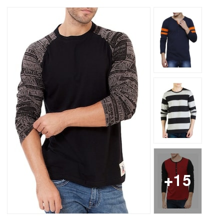 Tshirts for men. Online shopping look by Raji