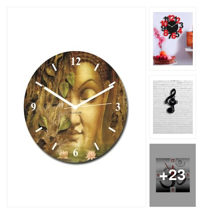 Wall clocks. Online shopping look by nibedita