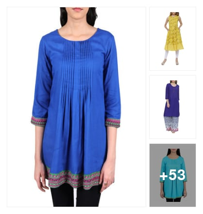 Try these awesome kurtas. Online shopping look by vikranth