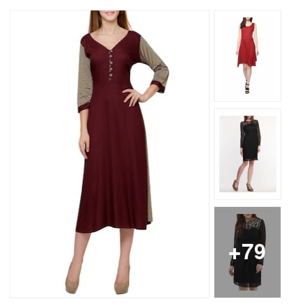 nice dresses for ladies. Online shopping look by vihaan