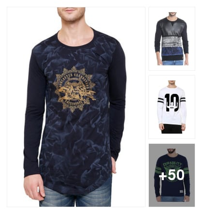 Full sleeves t-shirt for beautiful men's. Online shopping look by chinni