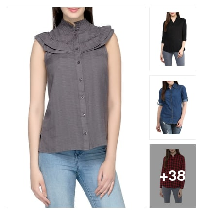 Fashion addresses shirts. Online shopping look by abi