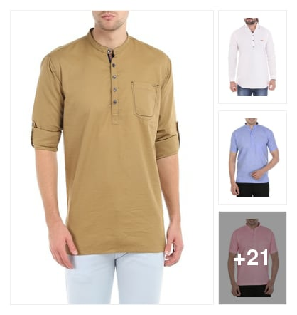 SKILLFUL  KURTAS  FOR  GENTS. Online shopping look by Lakshmi