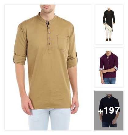 Kurtas for men. Online shopping look by harika