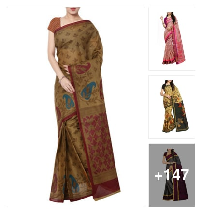 Saree style with beautiful collection. Online shopping look by Pratibha