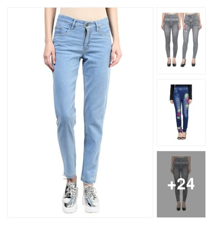 Jeans and jeggings. Online shopping look by P