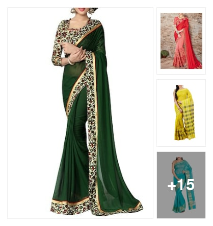 Latest designer sarees. Online shopping look by Shaan