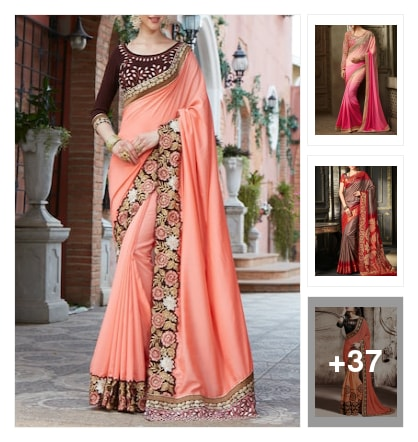 New trending sarees . Online shopping look by Chennamma