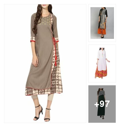 Latest festive wear kurtas. Online shopping look by sapna