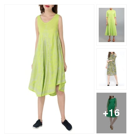 soothing greens. Online shopping look by padma