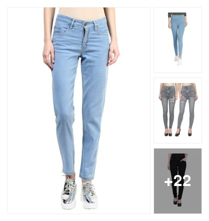 Jeans jeggings for women. Online shopping look by kavya