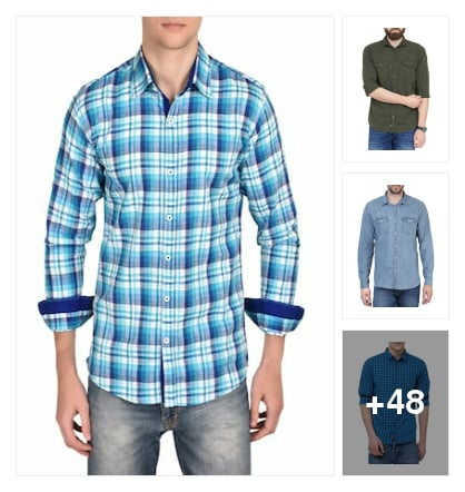 Casual Shirts for Men's. Online shopping look by prameela
