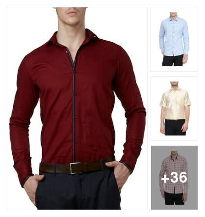 casual shirts for men. Online shopping look by Abhinav
