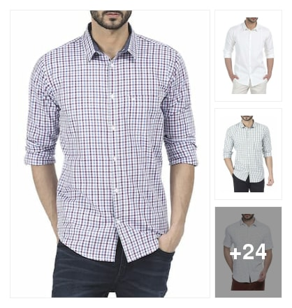 White shaded BASIC shirts. Online shopping look by sreekanth