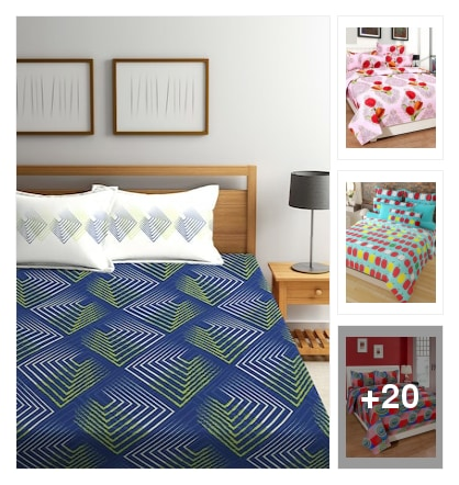 cotton double bed sheet  for beautiful collection. Online shopping look by ammulu