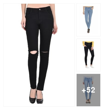 Comfortable jeans for girls. Online shopping look by vicky