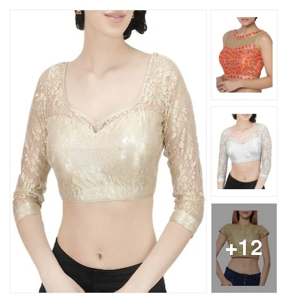 Occasional netted blouses. Online shopping look by Jayasmita