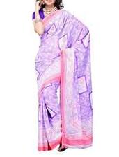 Pink Border Georgette Saree - Ambaji