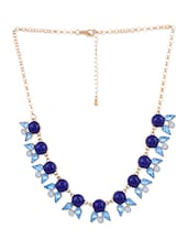 Blue Metal Alloy Necklace - By