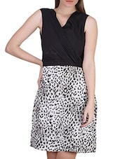Leopard Print Sleeveless Georgette Dress - SIERRA
