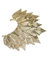 Bold And Beautiful Golden Leaf Ear Cuff - Crunchy Fashion