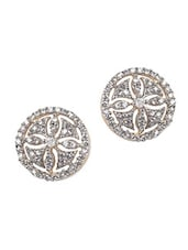 Round American Diamond Studs - Crunchy Fashion