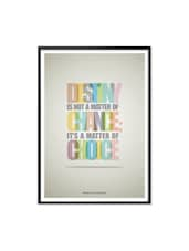 Destiny Quotes Typographic Print Art, Inspirational Framed Poster - Lab No. 4 - The Quotography Department
