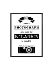 Life Is Like A Photographs Life Inspirational Framed Quotes Poster - Lab No. 4 - The Quotography Department