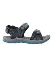 Textured Grey Open Toe Floaters - Fizzik
