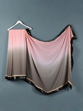 Pink And Grey Ombre Evening Saree - Designerz Hub