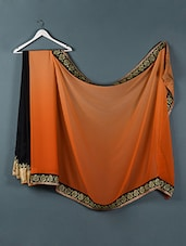 Orange And Black Georgette Saree - Designerz Hub