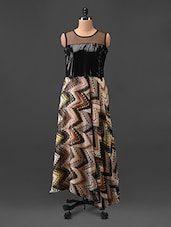 Chevron Print Maxi Dress - By