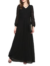 Georgette Bell Sleeves Maxi Dress - La Zoire