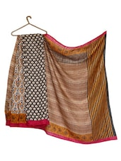 Multicolored Bhagalpuri Silk Digital Printed Saree - Strollay Couture