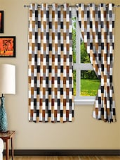 Multicolour Polyester Window Curtain Set Of Two - Story @ Home