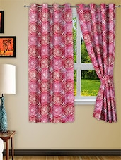 Pink Polyester Window Curtain Set Of Two - Story @ Home