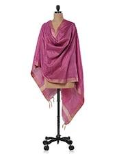 Pink Cotton Silk  Dupatta - Inara Robes