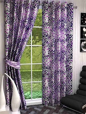 K Decor Set Of 3 Beautiful Polyester Window Curtains (WCN3-039) - By